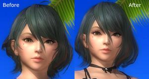 DOA5LR Tamaki Hair Fix by gattotomDOA5LRmods