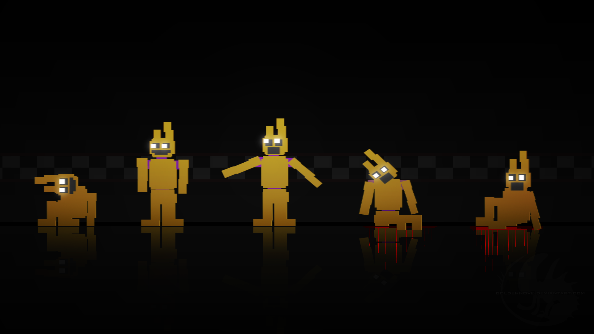 Five nights at freddy s 3 wallpaper by goldennove on deviantart