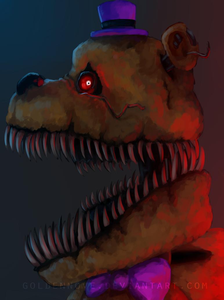 Nightmare fredbear by goldennove on deviantart