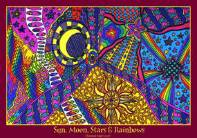 Sun, Moon, Stars and Rainbows by kine80
