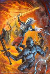 Fire sword