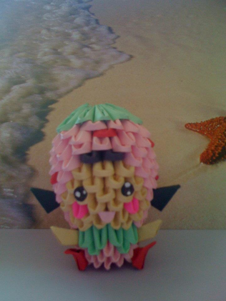 3d Origami Strawberry Girl By Penguin4213 On Deviantart