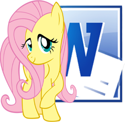 Fluttershy Microsoft Word Windows Icon by Shadowhedgiefan91