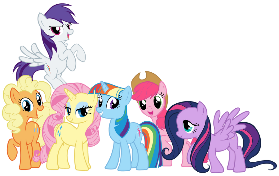 Mane 6 swapped colors by shadowhedgiefan91 on deviantart for Mlp coloring pages mane 6