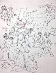 The birth of the true MegaMan ZX by Chiquiyo