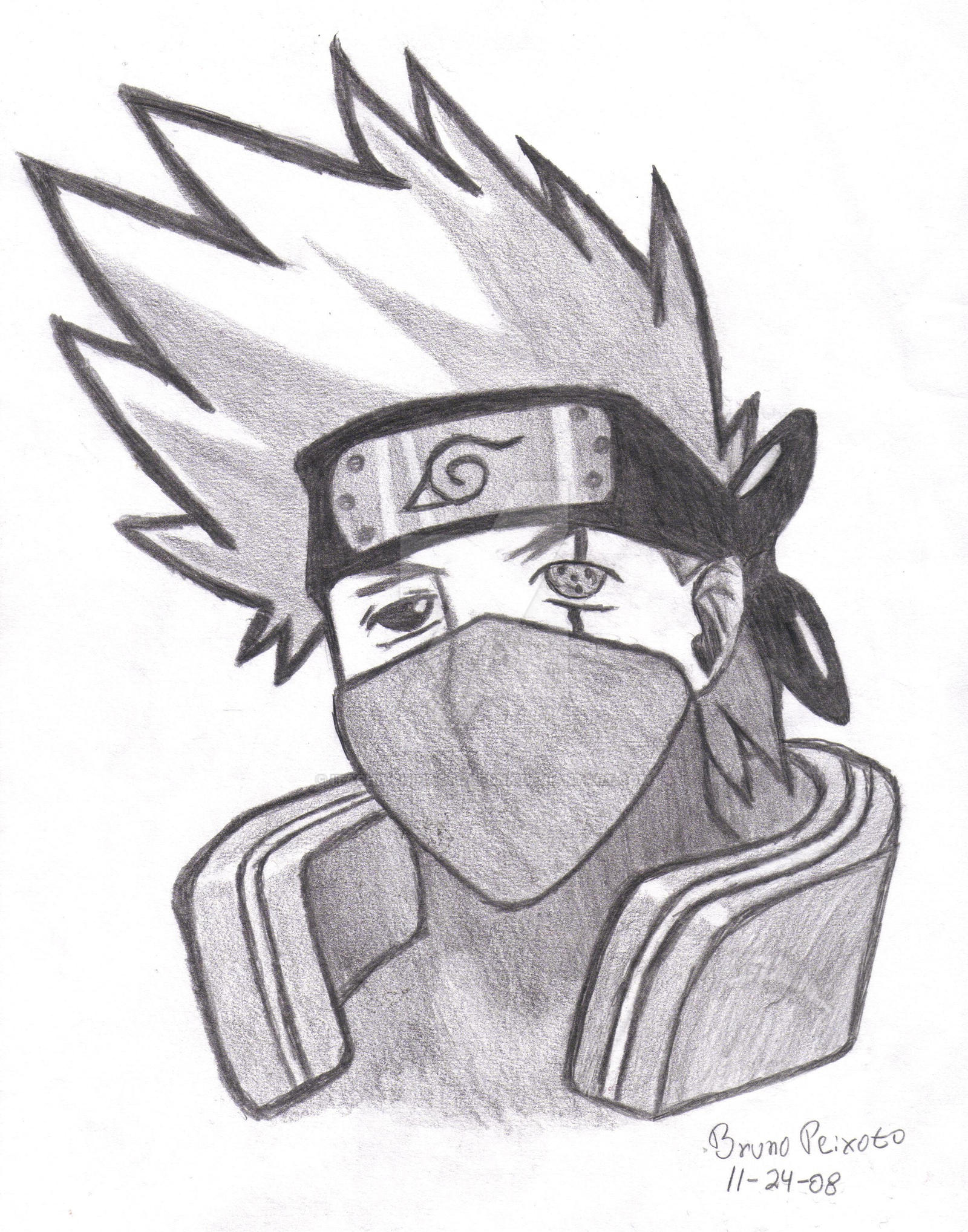 kakashi face drawing by itachiuchihaofdafunk kakashi face drawing by itachiuchihaofdafunk