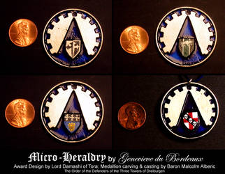 Micro-Heraldry for Dreiburgen by LostEloquence