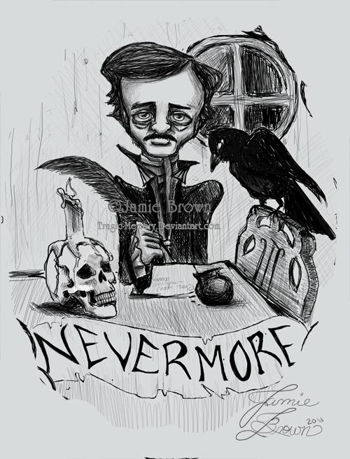 Edgar Allen Poe Commission by MissJamieBrown