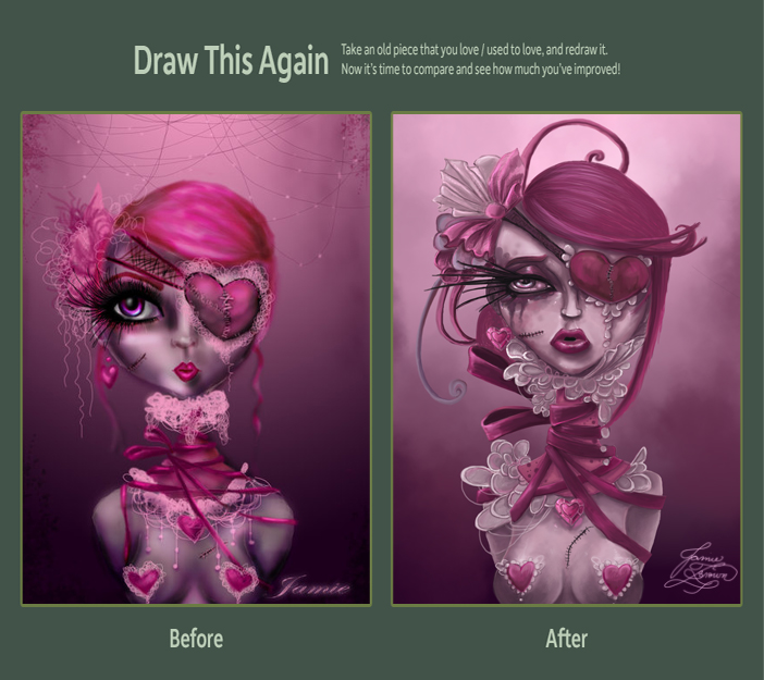 Draw This Again: Damaged Love Redux by MissJamieBrown