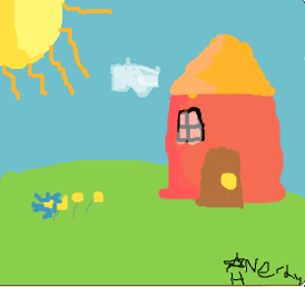 House on the hilltop by Nerdy-Hamster