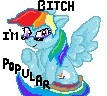Rainbow dash popular by Megandash
