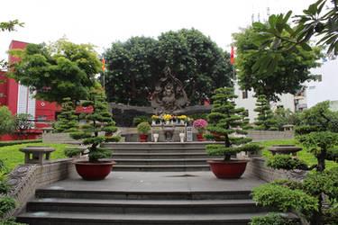 Burning Monk Statue in Ho Chi Minh City / Vietnam
