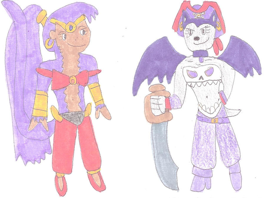 Shantae and Risky Boots by jacobyel
