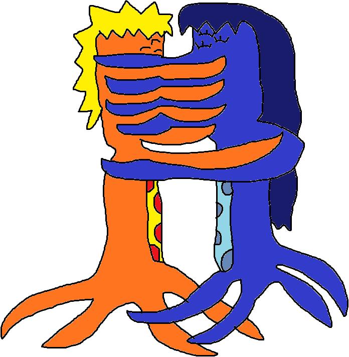 Cthulhu Naruto And Hinata Kiss By Jacobyel On DeviantArt