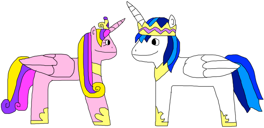 Shining Armor and Princess Cadence by jacobyel on DeviantArt