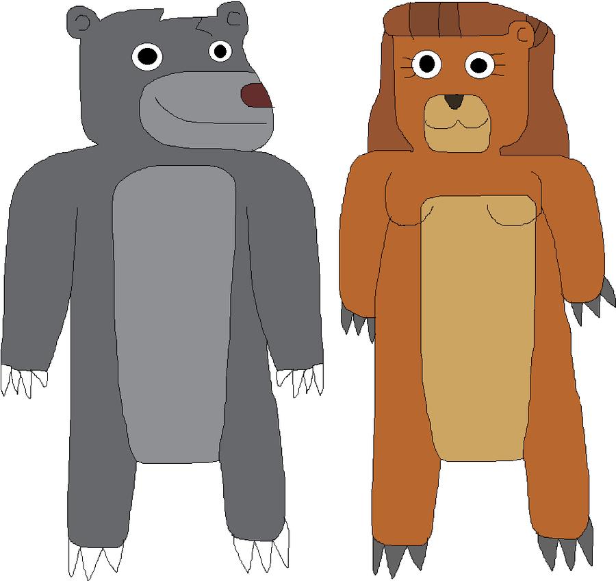 Imagine-Earth Baloo and Rebecca by jacobyel