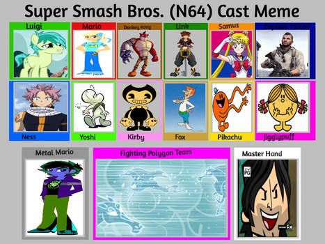 Mead1992's Super Smash Bros. Cast Meme