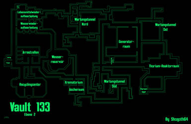 Vault 133 - Second Level by Shogoth64