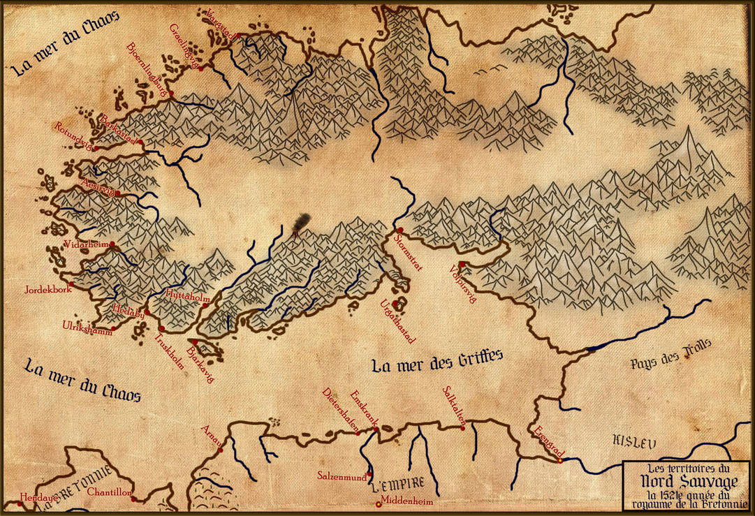 Map Of Norsca Kind Of French Version 0 8 By Shogoth64 On Deviantart