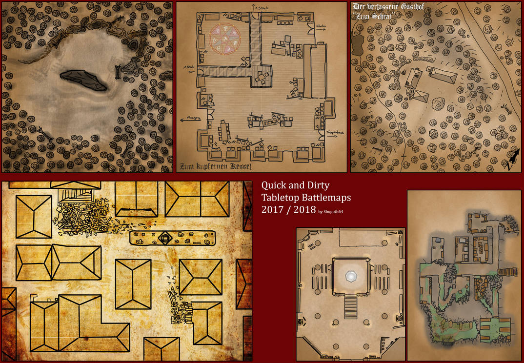 Quick and Dirty - Tabletop Battlemaps 2017/2018 by Shogoth64