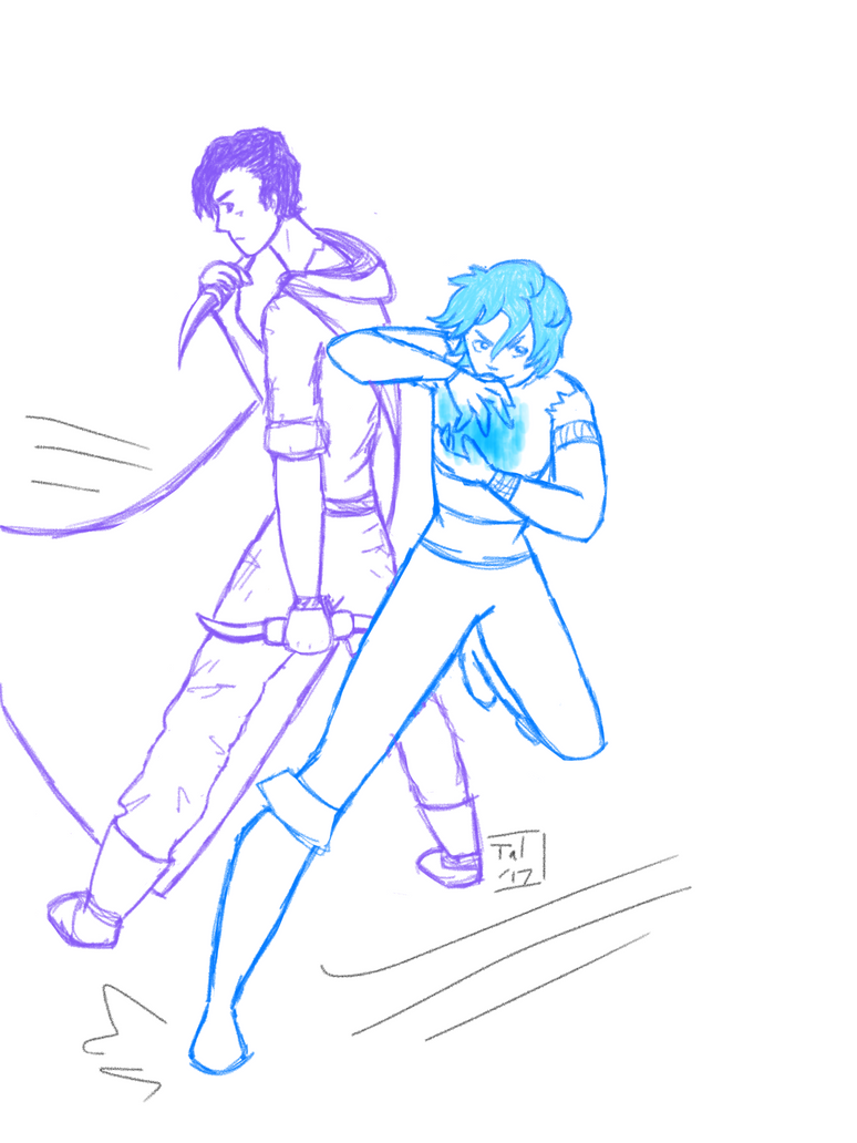 My ocs Angelo and Levi ft. Assassin/witch au by Rainintheearlymornin