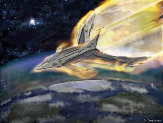 Starship Phoenix by E-Serrano