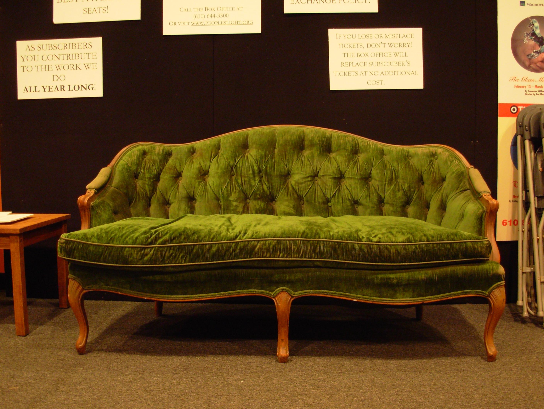 ... Green Sofa By Bean Stock