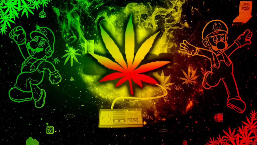 Rasta Weed Wallpaper By SkyeJacqueline