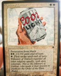 Order of Light Beer