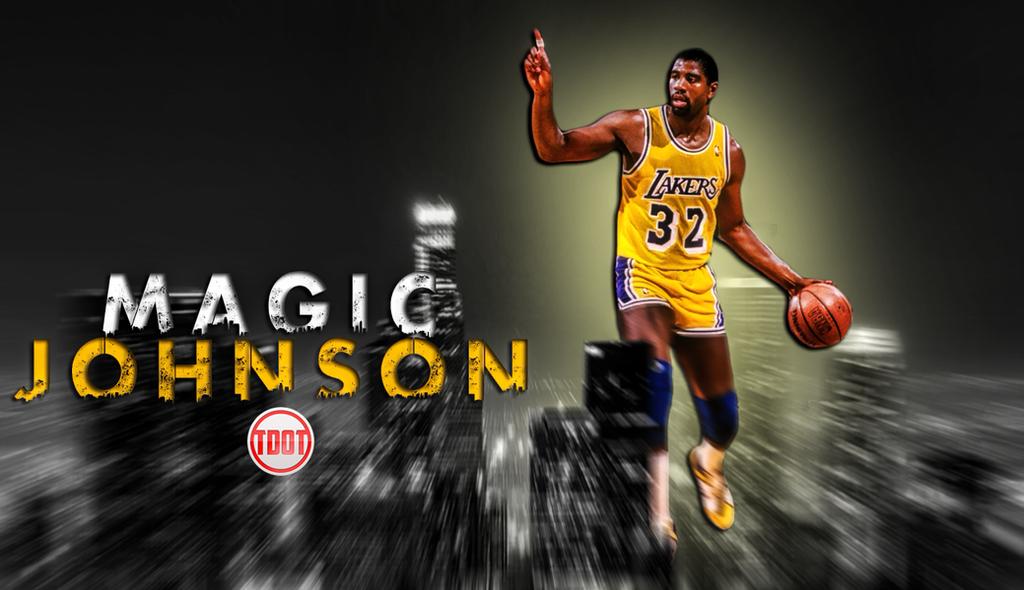 Magic Johnson Retro NBA Wallpaper by skythlee on DeviantArt