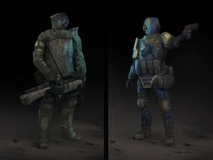 sci-fi military characters