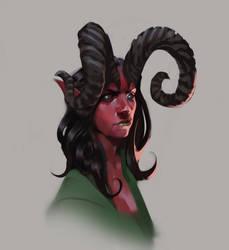 Character sketch Demon girl