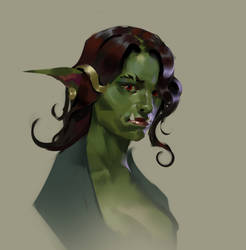 Character sketch Orc girl