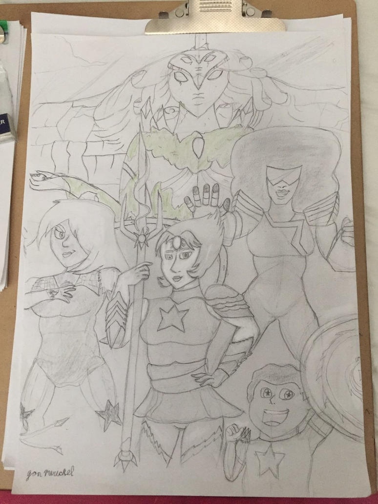 the Crystal Gems and Steven in my style by Hulk61