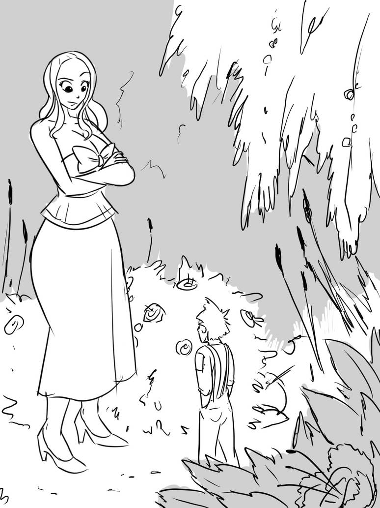 The Giantess's Garden: Illustrated Story: #1 by a0040pc on DeviantArt