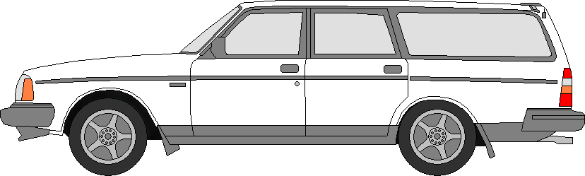 1992 Volvo 240 Template (Colored) by SwiftysGarage on