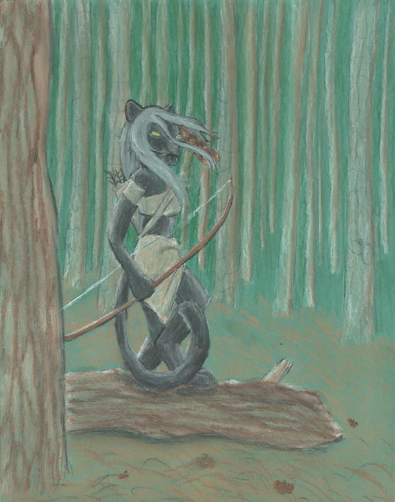 Sheba forest scene by Ormspryde