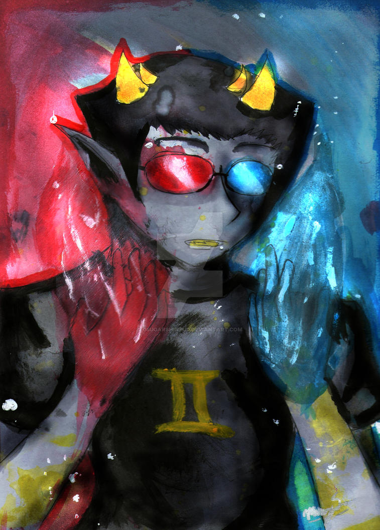 Sollux Watercolor by 0SugarShinpu0
