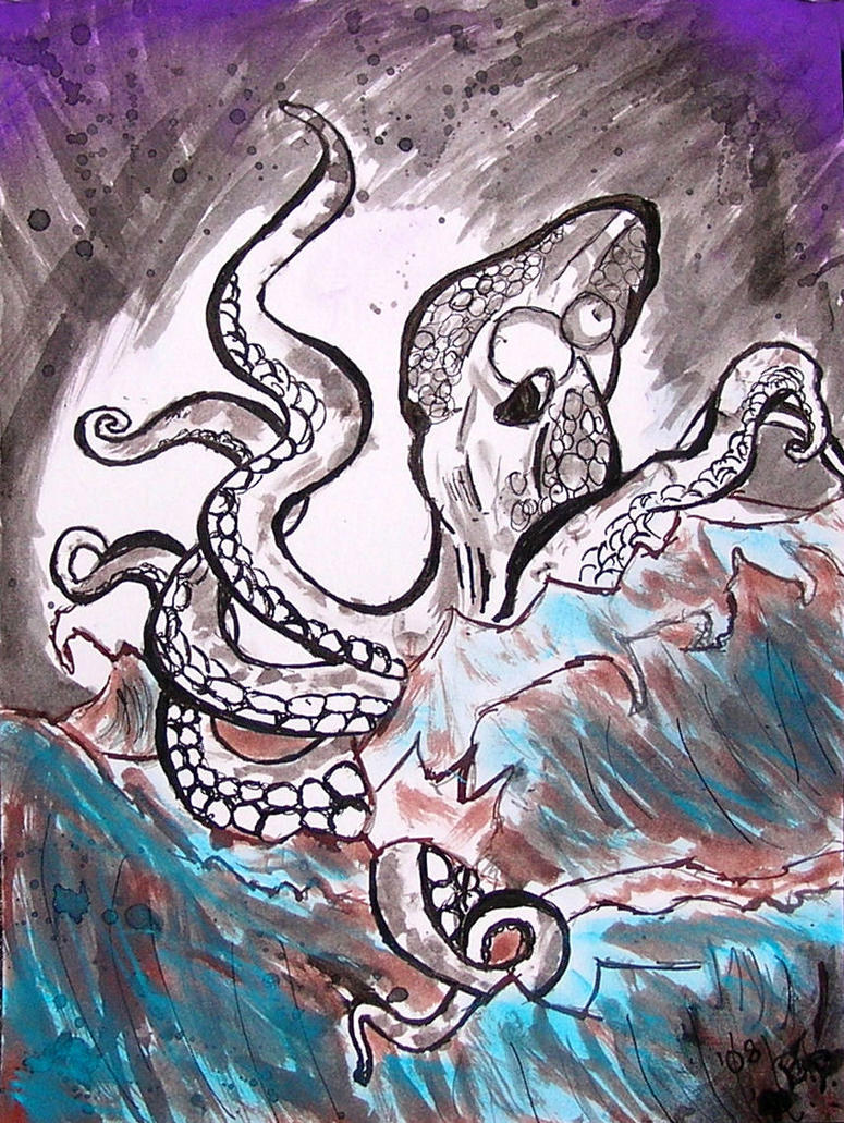 angry octopus drawing - photo #49