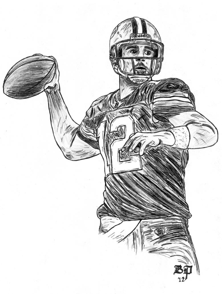 Cartoon Aaron Rodgers Coloring Pages