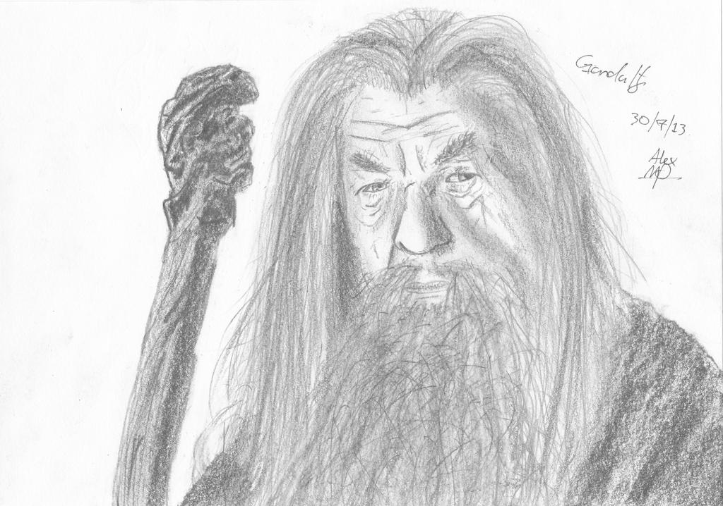 how to draw gandalf step by step easy