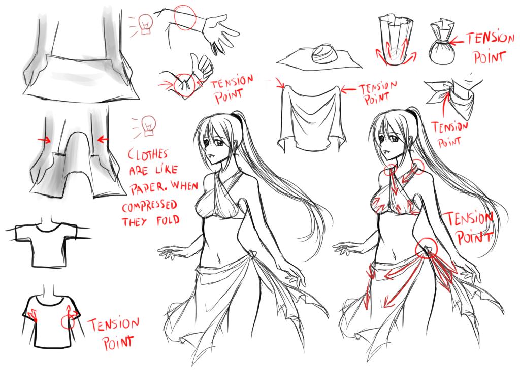 Character Design Drawing Tutorials : Clothes folds tips by murasaki hana on deviantart