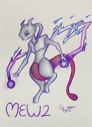 Mewtwo by DeltaKnife29