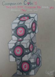 Companion Cubes by DeltaKnife29