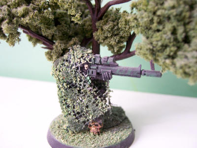 Vindicare Assassin, Ghillie by Action-Fig