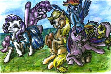 Mane 6 ponies by elfman83ml