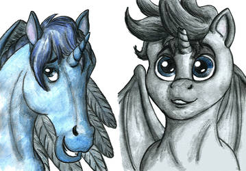 OC avatars of ilustrators for Brony CZ text-book