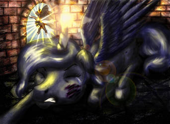 Luna pony for a story in a composite book by elfman83ml