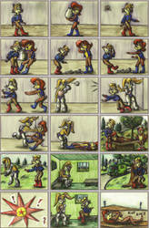 Satam Sonic Comic - One of Antoine's days by elfman83ml