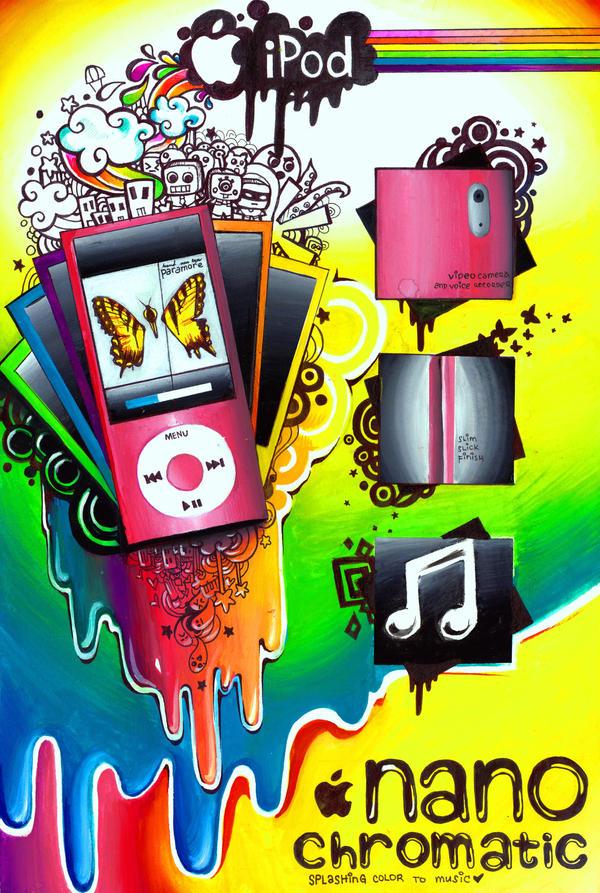 iPod NANOchromatic by rianbowart